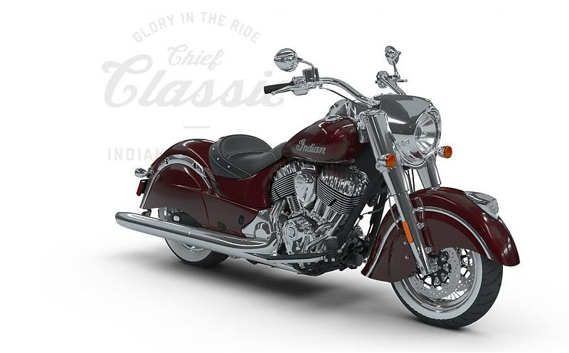 Мотоцикл Indian Chief Classic, Burgundy Metallic