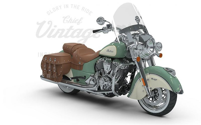 Мотоцикл Indian Chief Vintage, Willow Green over Ivory Cream